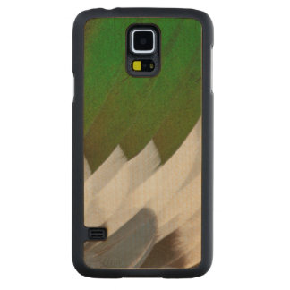 Colorful Duck Feather Abstract Carved Maple Galaxy S5 Case