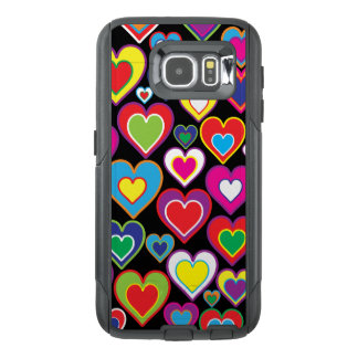 Colorful Dynamic Rainbow Hearts in Hearts Pattern