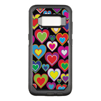 Colorful Dynamic Rainbow Hearts in Hearts Pattern OtterBox Commuter Samsung Galaxy S8 Case