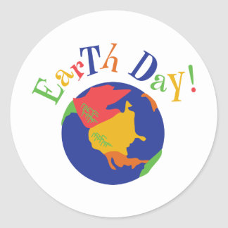 Colorful Earth Day Stickers