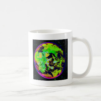 Colorful Earth From Space. Basic White Mug