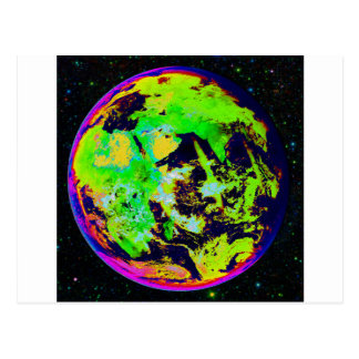 Colorful Earth From Space. Postcard