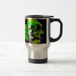 Colorful Earth From Space. Stainless Steel Travel Mug