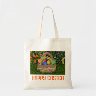 Colorful Easter Basket Tote Bag