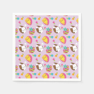 Colorful Easter Disposable Napkins