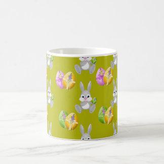 Colorful Easter Eggs and Bunny Coffee Mug