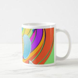 Colorful Easter Eggs and Bunny Rabbits Basic White Mug