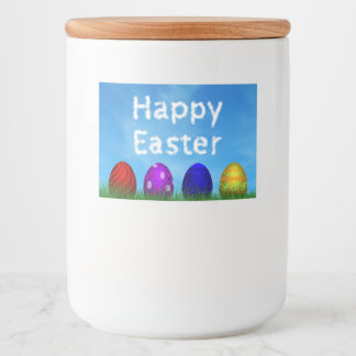 Colorful Easter Eggs - Food Container Label