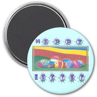 Colorful Easter Eggs Fridge Magnet