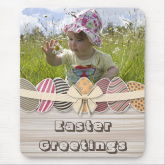Colorful Easter Eggs greeting Mouse Pad