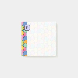 Colorful Easter Eggs Monogram 3x3 Post-it Notes