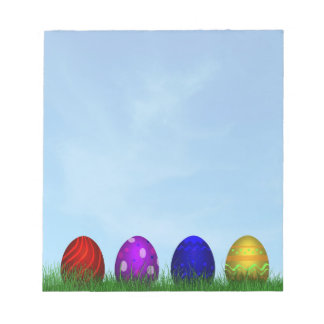 Colorful Easter Eggs - Notepad