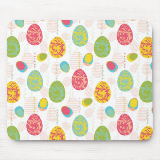Colorful Easter Eggs Pattern Mouse Mat