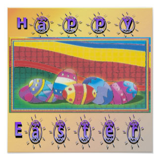 Colorful Easter Eggs Poster