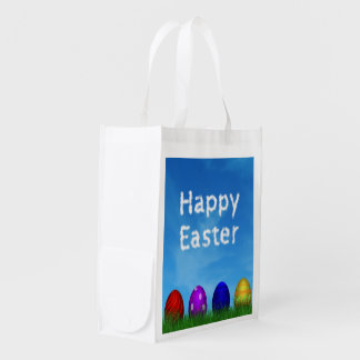 Colorful Easter Eggs - Reusable Bag