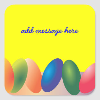 Colorful Easter Eggs Sticker