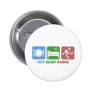 Colorful eat sleep dance buttons