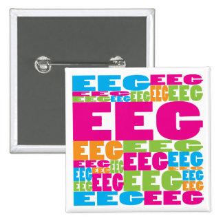 Colorful EEG 15 Cm Square Badge