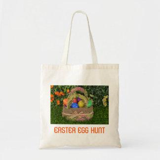 Colorful Eggs and Basket Easter Egg Hunt Tote Bag