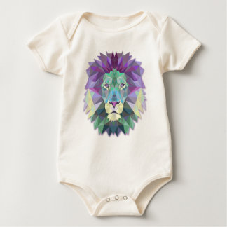 Colorful Elegant Abstract Lion Polygon Bodysuit