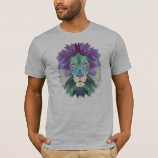Colorful Elegant Abstract Lion Polygon | Shirt