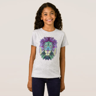 Colorful Elegant Abstract Lion Polygon Shirt