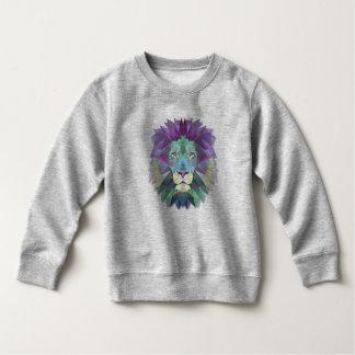 Colorful Elegant Abstract Lion Polygon Sweatshirt