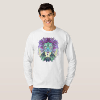 Colorful Elegant Abstract Lion | Sleeve Shirt