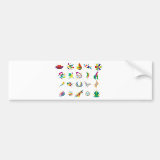 Colorful elements design bumper stickers