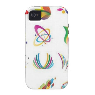Colorful elements design Case-Mate iPhone 4 cover