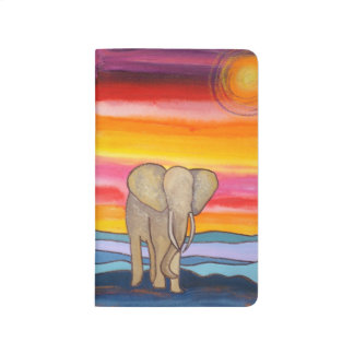 Colorful Elephant at Sunset Journal
