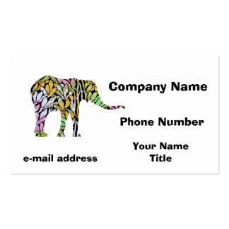 Colorful Elephant Double-Sided Standard Business Cards (Pack Of 100)