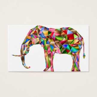 Colorful elephant business card