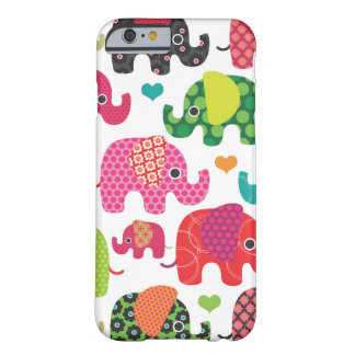 Colorful elephant kids pattern iPhone 6 case iPhon Barely There iPhone 6 Case