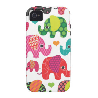 Colorful elephant kids pattern iphone case vibe iPhone 4 cases