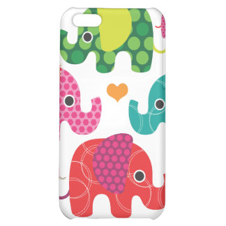 Colorful elephant kids pattern iphone case iPhone 5C case