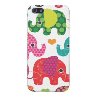 Colorful elephant kids pattern iphone case covers for iPhone 5
