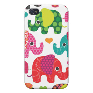 Colorful elephant kids pattern iphone case iPhone 4/4S case