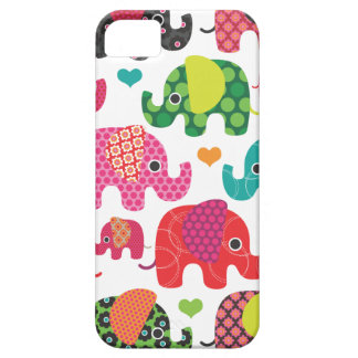 Colorful elephant kids pattern iphone case case for the iPhone 5
