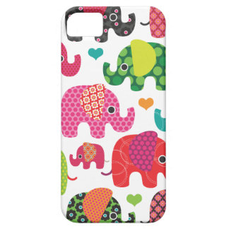 Colorful elephant kids pattern iphone case iPhone