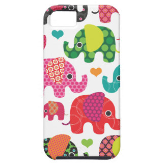 Colorful elephant kids pattern iphone case iPhone 5 cases