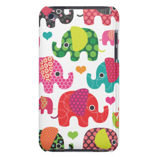 Colorful elephant kids pattern ipod case