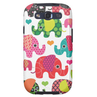 Colorful elephant kids pattern samsung case galaxy SIII case