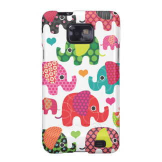 Colorful elephant kids pattern samsung case samsung galaxy SII cases