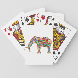 Colorful elephant playing cards