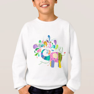 Colorful Elephant Splashing Sweatshirt