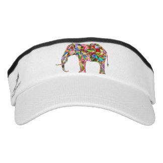 Colorful elephant visor