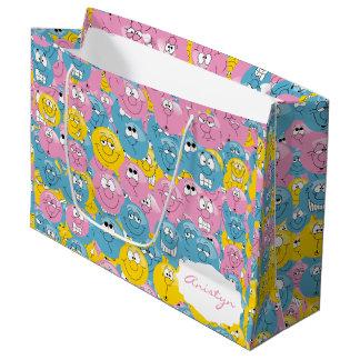 Colorful Emoji Fun Designs Large Gift Bag