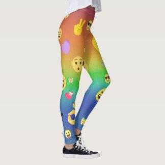 Colorful Emojis Leggings