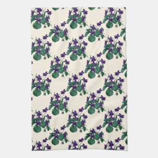 Colorful English Violets by mcful Towels